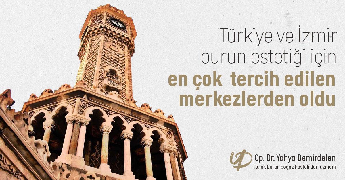 Türkiye ve İzmir Burun Estetiği İçin En Çok Tercih Edilen Merkezlerden Oldu